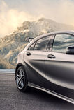 Rumänien, Brasov-Sept. 16, 2014: Mercedes-Benz A 45 2014 AMG Stockbilder