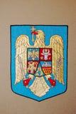 Rumänien-Emblem Stockfoto
