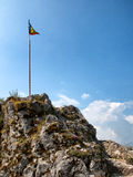Rumänien flagga royaltyfria foton