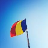Rumänien flagga Arkivfoto