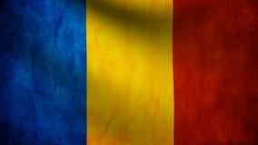 Rumänien flagga royaltyfri illustrationer