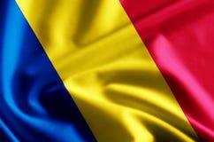 Rumänien flaggaillustration stock illustrationer