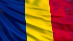 Rumänien-Flagge Wellenartig bewegende Flagge von Illustration Rumäniens 3d lizenzfreie abbildung