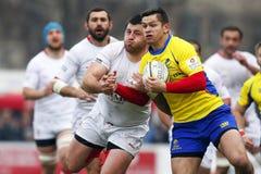 Rumänien-Georgia rugby Arkivfoto