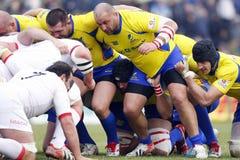 Rumänien-Georgia-Rugby Stockfotos