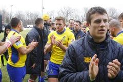 Rumänien-Georgia-Rugby lizenzfreie stockfotos