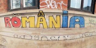 Rumänien-Graffiti stockfotos