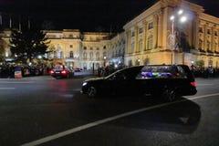 Rumänien - König Mchael I - königliches Funerral lizenzfreies stockbild