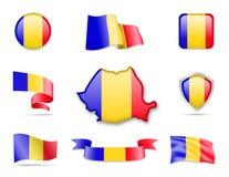 Rumänien kennzeichnet Sammlung Stock Abbildung
