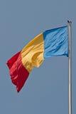 Rumänien-Markierungsfahne Lizenzfreies Stockbild