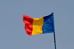 Rumänien-Markierungsfahne Stockfotografie