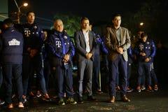 Rumänien nationellt fotbollslag på den Colectiv klubban Royaltyfri Fotografi