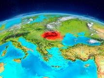 Rumänien på jord Arkivbild