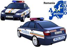 Rumänien polisbil Arkivbild