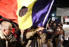 Rumänien-Proteste Stockfoto