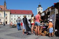 Rumänien - Sibiu Arkivfoto