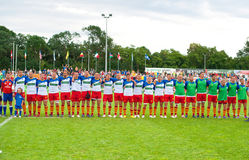 Rumänien-Team während des IRB Nation-Cup Stockbilder