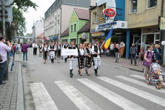 Rumänien-traditionelle Volksgruppe stockfotos