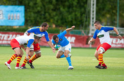 Rumänien und Italien kämpfen während des IRB Nation-Cup Lizenzfreies Stockbild
