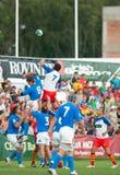 Rumänien-und Italien-Kampf während des IRB Nation-Cup Lizenzfreies Stockfoto