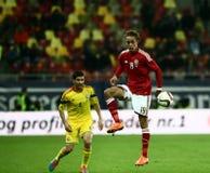 Rumänien vs Danmark royaltyfri bild