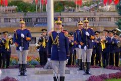 Rumänische Armeeparade in Bukarest, Rumänien Stockfoto
