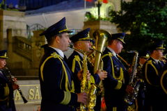 Rumänische Armeeparade in Bukarest, Rumänien Lizenzfreie Stockfotografie