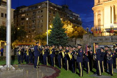 Rumänische Armeeparade in Bukarest, Rumänien Lizenzfreies Stockbild