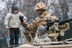 Rumänische Kinder an einer Parade Lizenzfreie Stockfotos