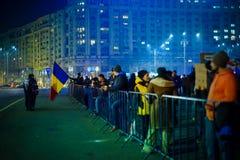 Rumänische Korruptionsbekämpfungs- Proteste, Bukarest, Rumänien Lizenzfreie Stockfotografie