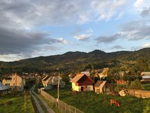 Rumänische Landschaft Stockfoto