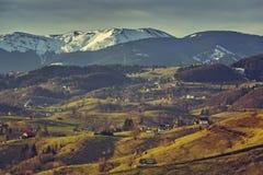 Rumänische landwirtschaftliche Landschaft Stockbilder