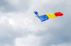 Rumänische Markierungsfahne Stockfotografie