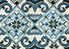 Rumänische nahtlose Mustervolksverzierungen Rumänische traditionelle Stickerei Ethnische Beschaffenheitsauslegung Traditionelles  Lizenzfreie Stockbilder