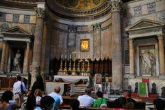 Rumänische Pantheoninnenraumansicht Lizenzfreies Stockbild