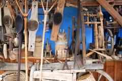 Rumänische traditionelle ländliche Gegenstände Stockbild