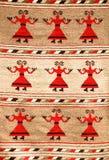 Rumänische traditionelle Wolldecke stockfotos