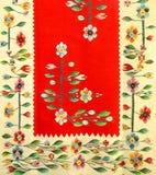 Rumänische traditionelle Wolldecke Stockfoto