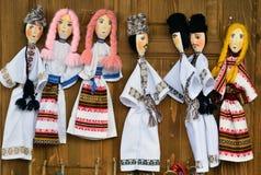 Rumänische Volkspuppen von Bucovina Lizenzfreies Stockfoto