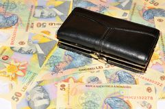 Rumänische Währung Stockfoto