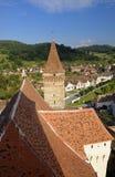 Rumänische Wehrkirche Stockbild