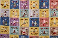 Rumänischer handgemachter Teppich Stockfotos