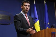 Rumänischer Minister von inneren Angelegenheiten Dragos Tudorache stockfotografie