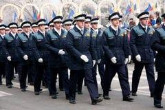 Rumänischer policemans Marsch Stockbilder