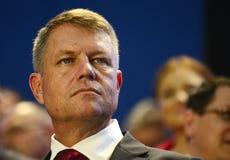 Rumänischer Politiker Klaus Iohannis Lizenzfreies Stockbild