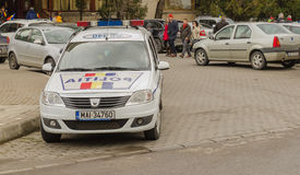 Rumänischer Polizeiwagen Stockfotos