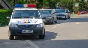 Rumänischer Polizeiwagen Lizenzfreies Stockfoto