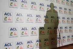Rumänischer Präsident Klaus Werner Iohannis lizenzfreie stockbilder