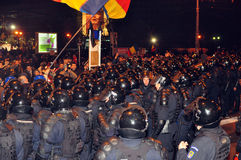 Rumänischer Protest 19/01/2012 - 10 Stockbild