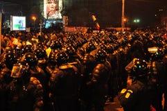 Rumänischer Protest 19/01/2012 - 3 Stockbild